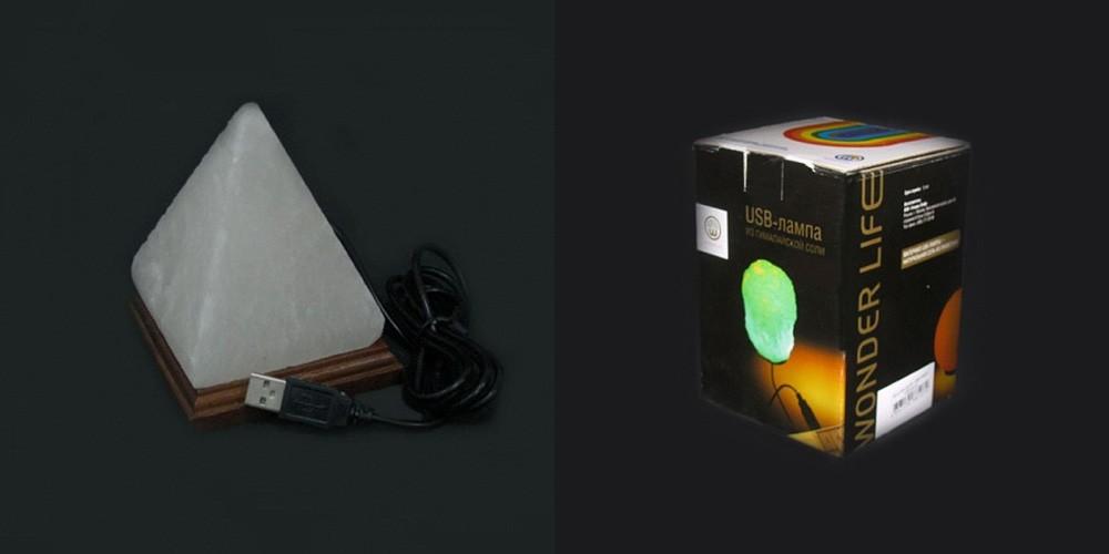 Соляная лампа Пирамида USB
