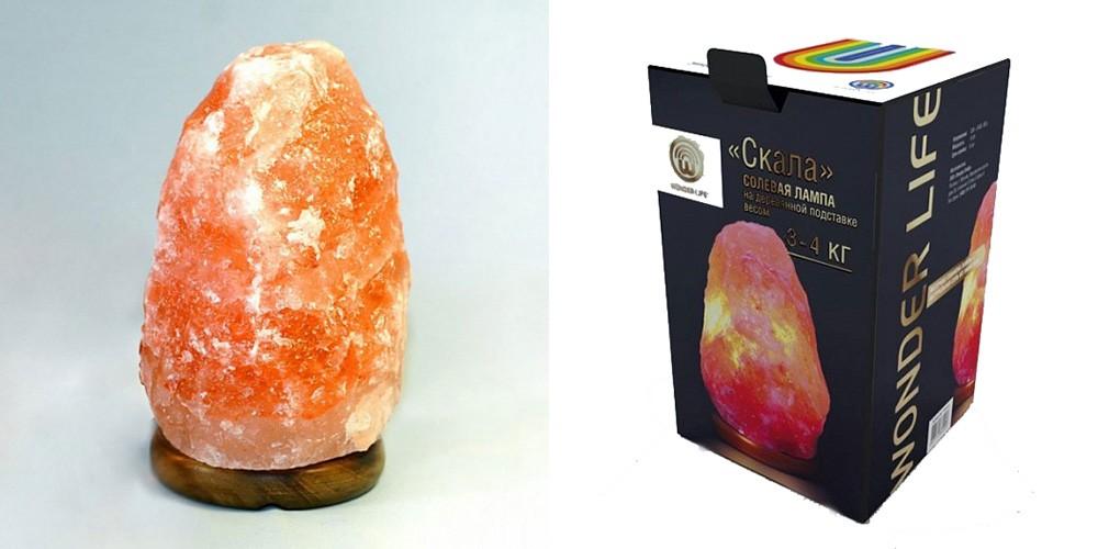 Соляная лампа Скала 3-4 кг