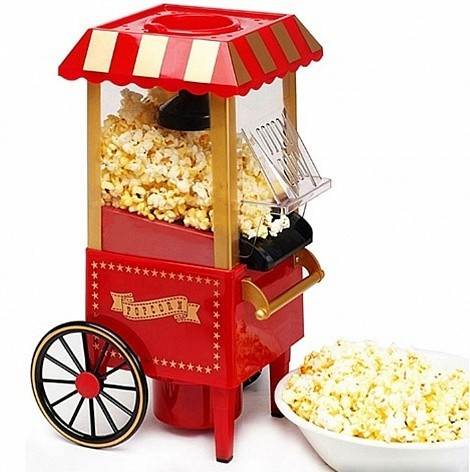 Домашний Аппарат для приготовления попкорна (попкорница) Ретро