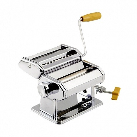 Лапшерезка ручная Pasta Machine 15см, (Marcato Atlas TH-150f, тестораскатка + блок для нарезки лапши)