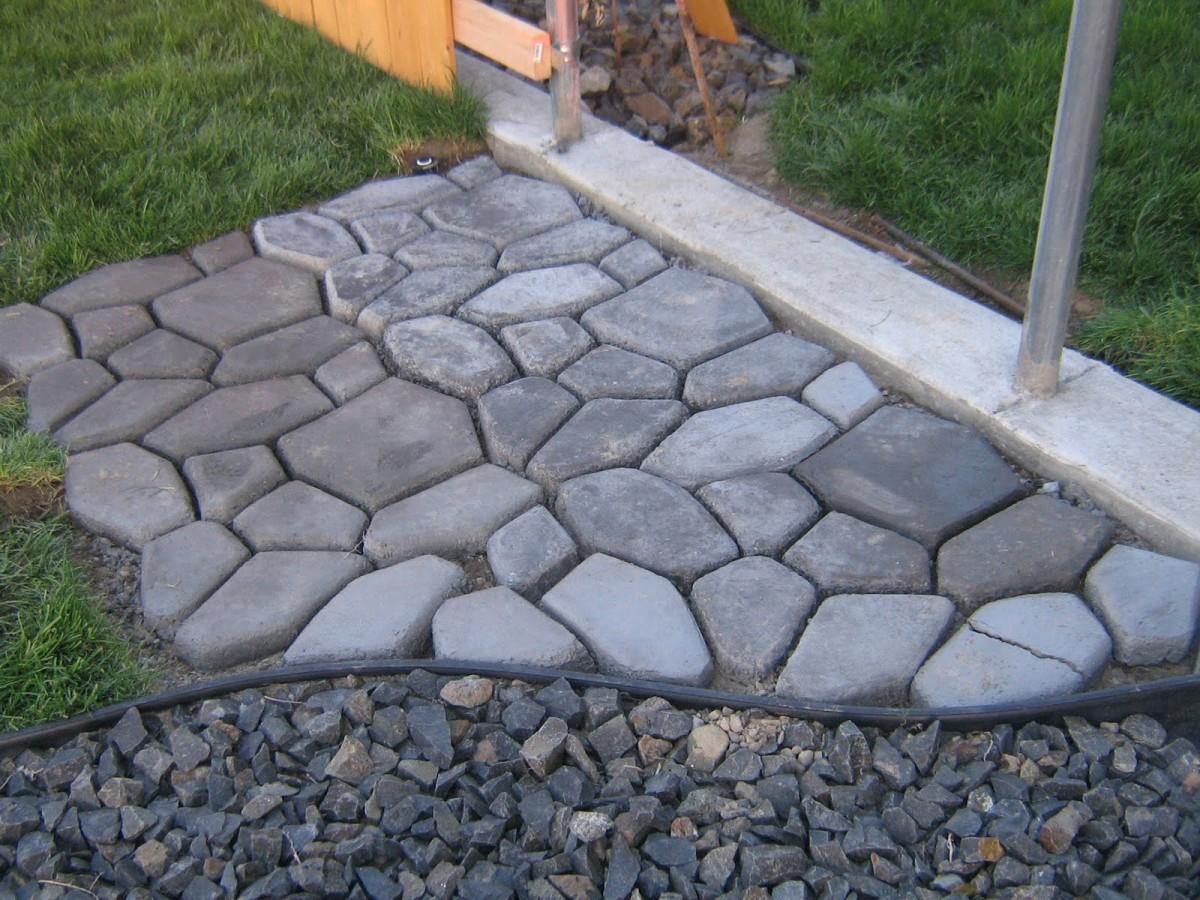 Форма плитки для садовых дорожек своими руками