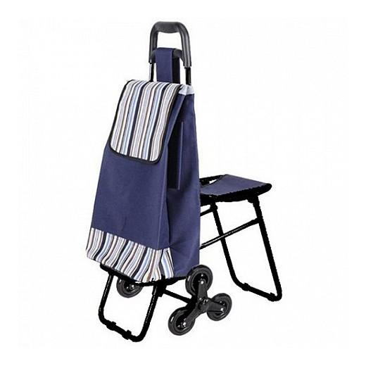 Сумка-тележка C3D на 6 колесах с откидным стулом