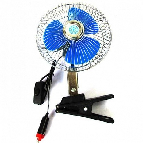 Вентилятор для автомобиля на прищепке с прикуривателем
