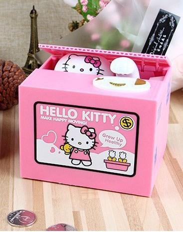 Копилка воришка в коробке Hello Kitty