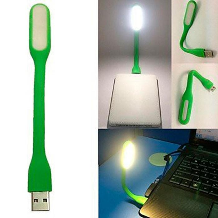 Лампа для ноутбука USB, зеленая
