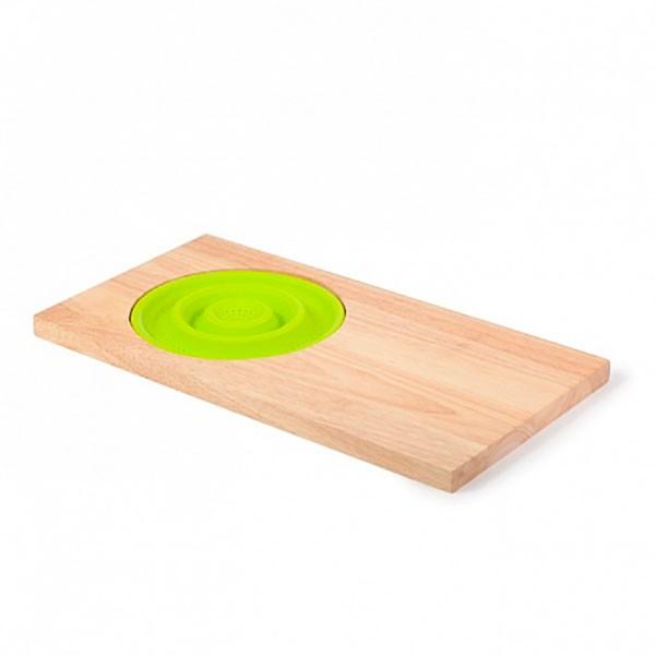 Разделочная доска с дуршлаком (зелёный)