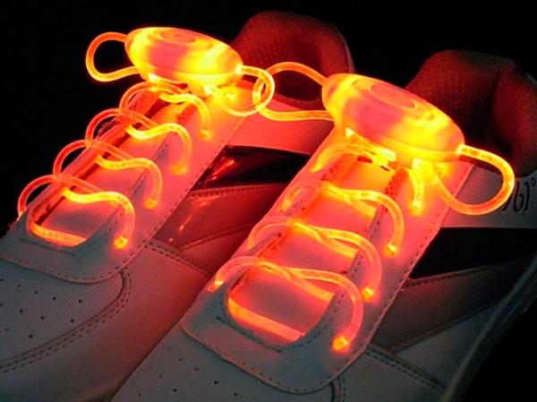 Светящиеся шнурки LED Luminous shoelace (красные)