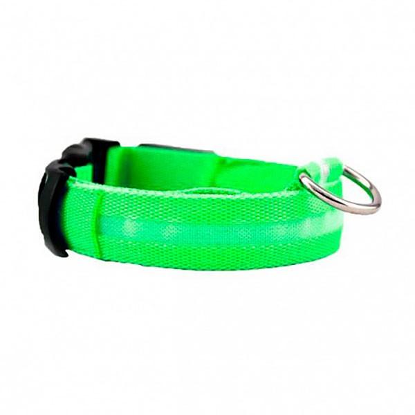 Ошейник с подсветкой для собак Luminous Collar for Dogs (размер M, зеленый)