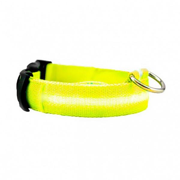Ошейник с подсветкой для собак Luminous Collar for Dogs (размер S, желтый)