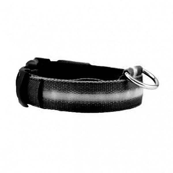 Ошейник с подсветкой для собак Luminous Collar for Dogs (размер S, черный)