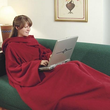 Плед с рукавами Snuggie (Уютная зима) красный