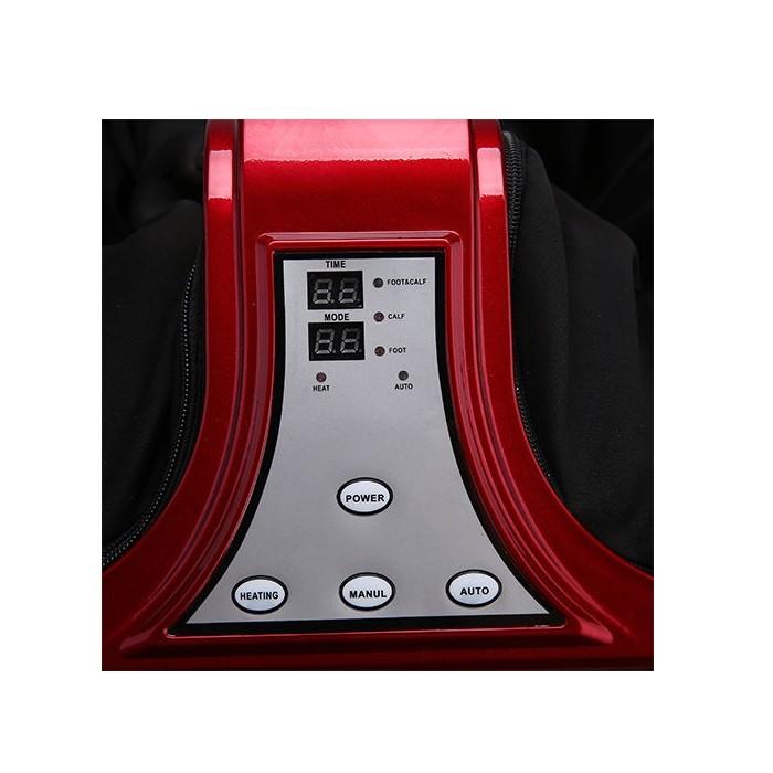 Двухмоторный массажер для ног с Ик-прогревом Canoo FitStudio (красный)