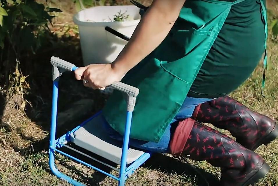 Универсальная садовая складная скамейка перевертыш Nika Экстра 3 в 1