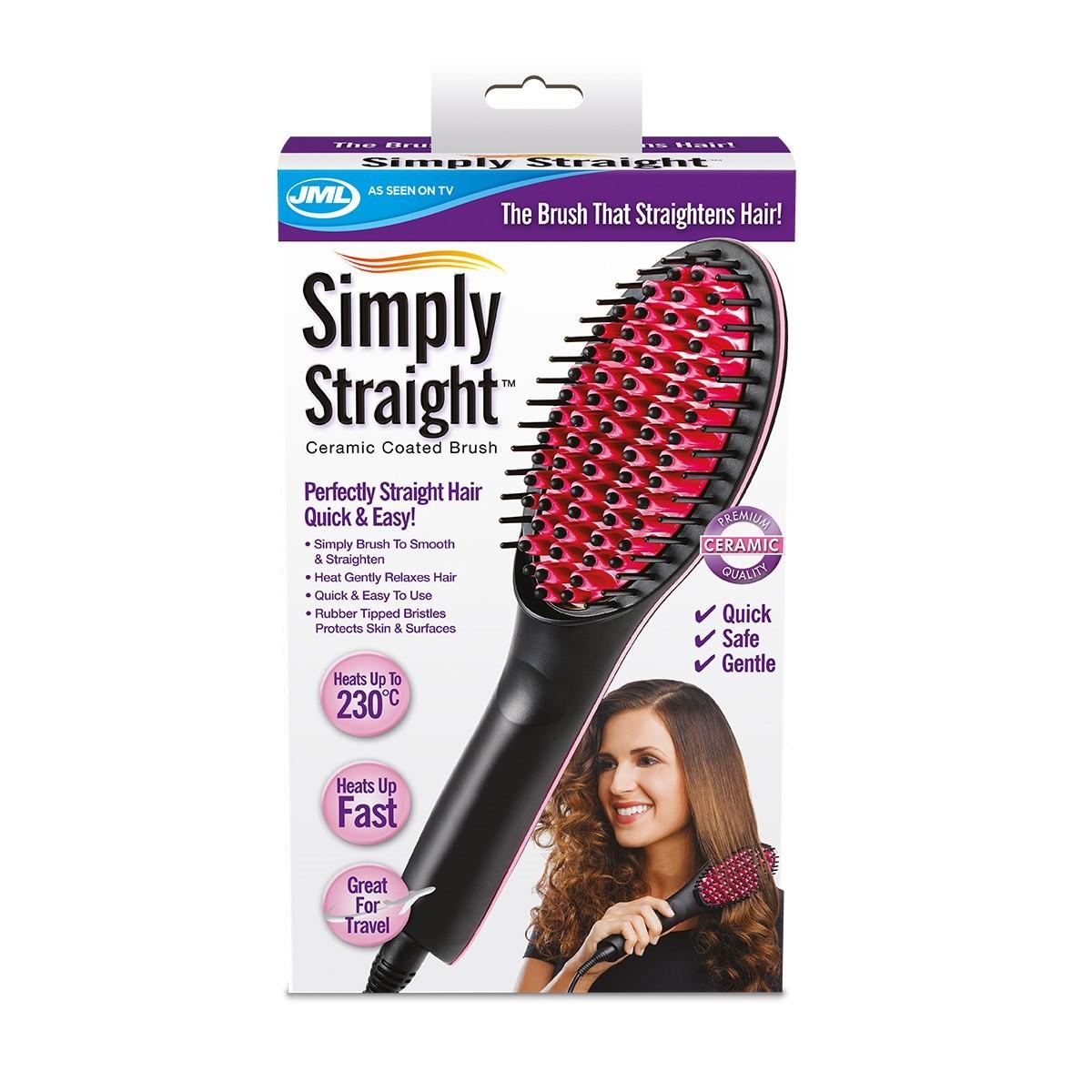 Электрическая расческа для выпрямления волос Simply Straight