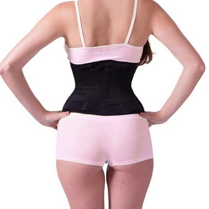 Утягивающий пояс для похудения Miss Belt черный S/M
